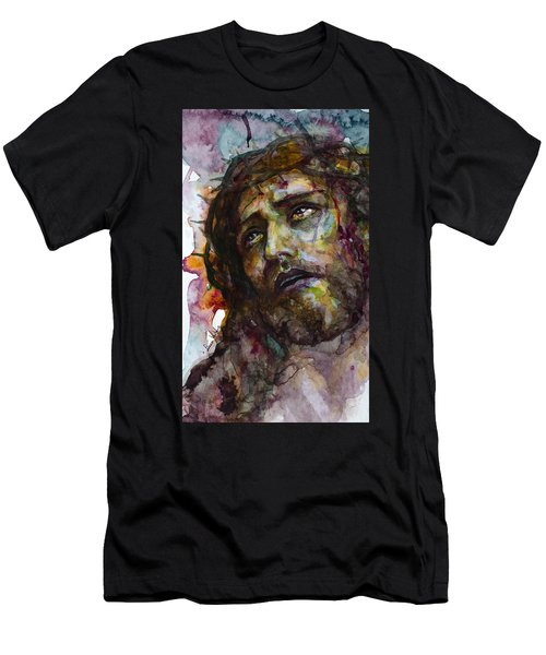 Men's T-Shirt (Slim Fit) featuring the painting Jesus Christ by Laur Iduc