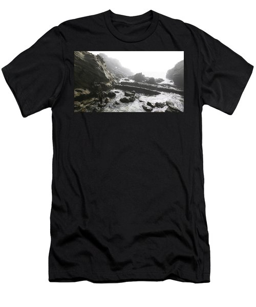 Jesus Christ- Walking Among Angel Mist Men's T-Shirt (Athletic Fit)