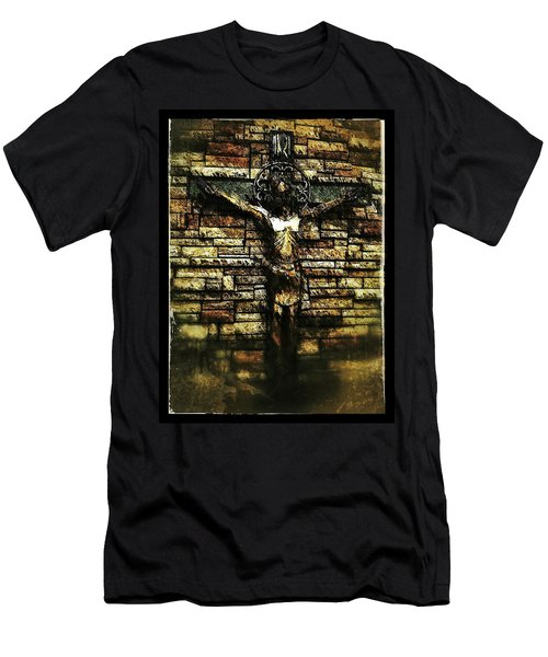 Jesus Coming Into View Men's T-Shirt (Athletic Fit)