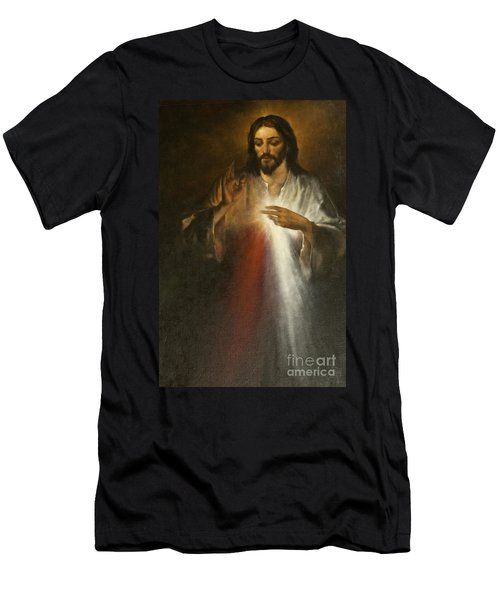 Jesus Of Divine Mercy Men's T-Shirt (Athletic Fit)