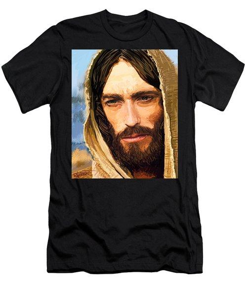Men's T-Shirt (Slim Fit) featuring the digital art Jesus Of Nazareth Portrait by Dave Luebbert