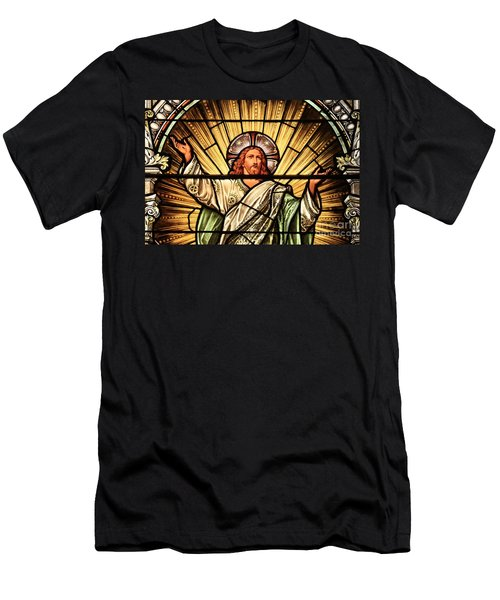 Jesus - The Light Of The Wold Men's T-Shirt (Athletic Fit)