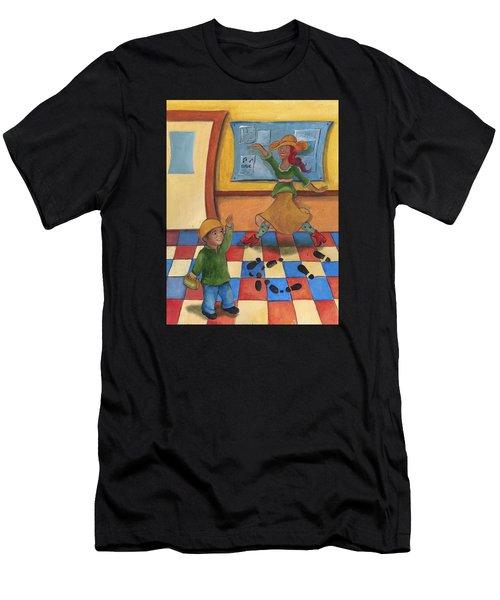 Jhonan And His Teacher  Men's T-Shirt (Athletic Fit)