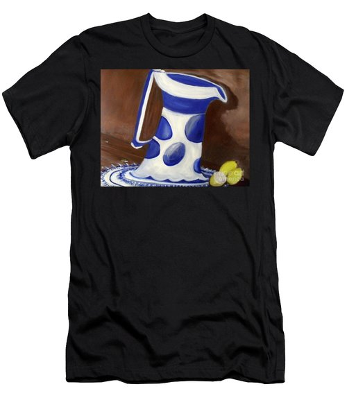 Men's T-Shirt (Athletic Fit) featuring the painting Fresh Lemonade by Laurie Lundquist