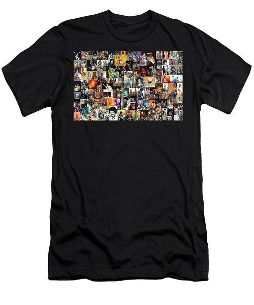 Jimi Hendrix Collage Men's T-Shirt (Athletic Fit)