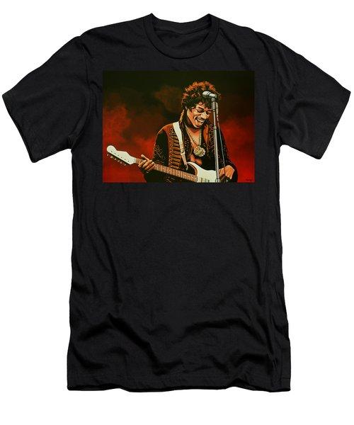 Jimi Hendrix Painting Men's T-Shirt (Athletic Fit)