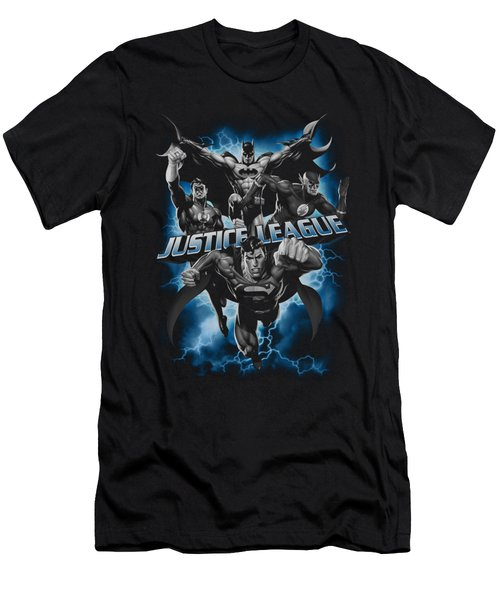Jla - Justice Storm Men's T-Shirt (Athletic Fit)