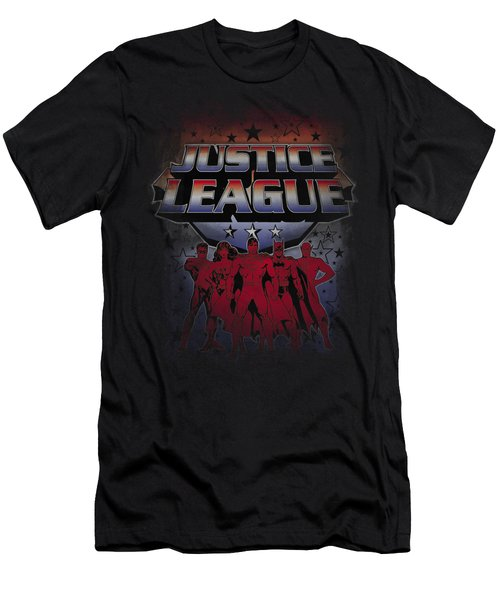 Jla - Star League Men's T-Shirt (Athletic Fit)