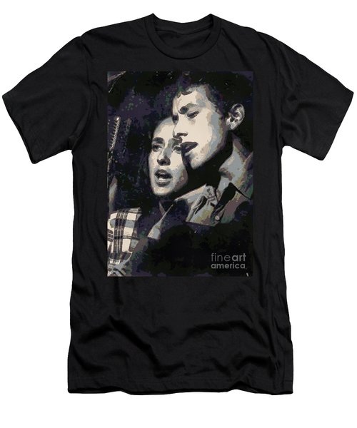 Joan Baez And Bob Dylan Men's T-Shirt (Athletic Fit)