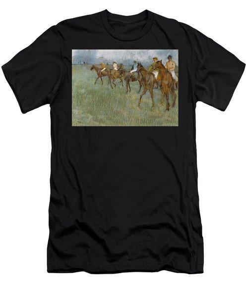 Jockeys In The Rain, 1886 Men's T-Shirt (Athletic Fit)