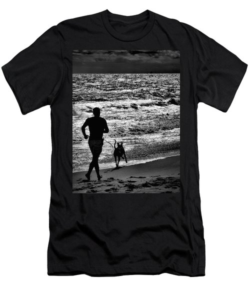 Joggin Wit Dad Men's T-Shirt (Slim Fit) by Robert McCubbin
