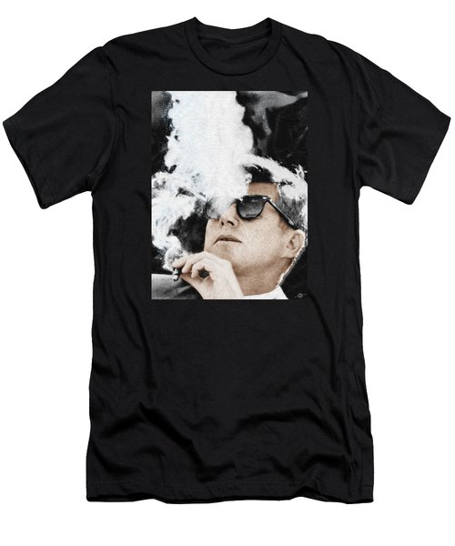 John F Kennedy Cigar And Sunglasses Men's T-Shirt (Athletic Fit)
