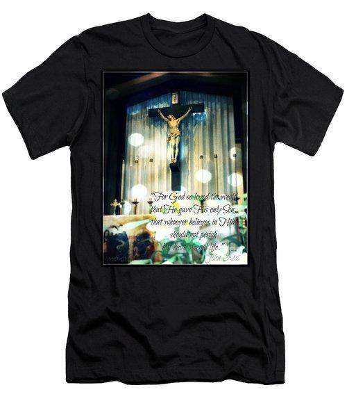 John316 - Easter Crucifix Men's T-Shirt (Athletic Fit)