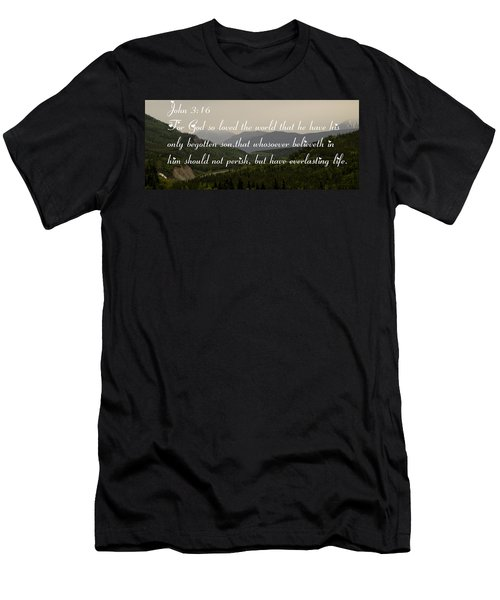John Three Sixteen Men's T-Shirt (Slim Fit) by Tara Lynn