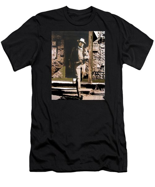 John Wayne Exciting The Sheriff's Office Rio Bravo Set Old Tucson Arizona 1959-2013 Men's T-Shirt (Athletic Fit)