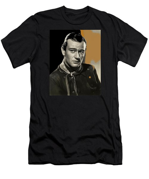 John Wayne  Publicity Photo In Costume Stagecoach 1939-2009 Men's T-Shirt (Slim Fit) by David Lee Guss