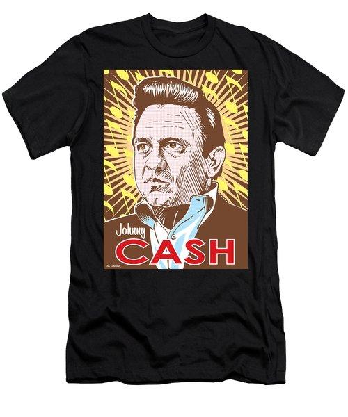 Johnny Cash Pop Art Men's T-Shirt (Athletic Fit)