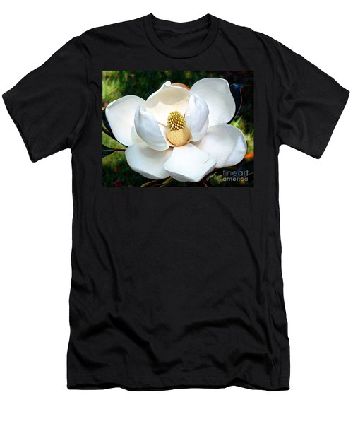 Men's T-Shirt (Slim Fit) featuring the photograph John's Magnolia by Barbara Chichester