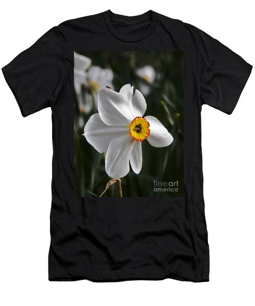 Men's T-Shirt (Slim Fit) featuring the photograph Jonquil by Judy Via-Wolff