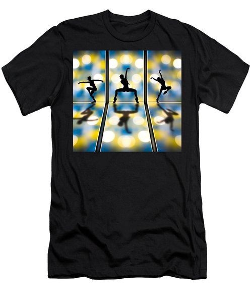 Men's T-Shirt (Athletic Fit) featuring the digital art Joy Of Movement by Bob Orsillo