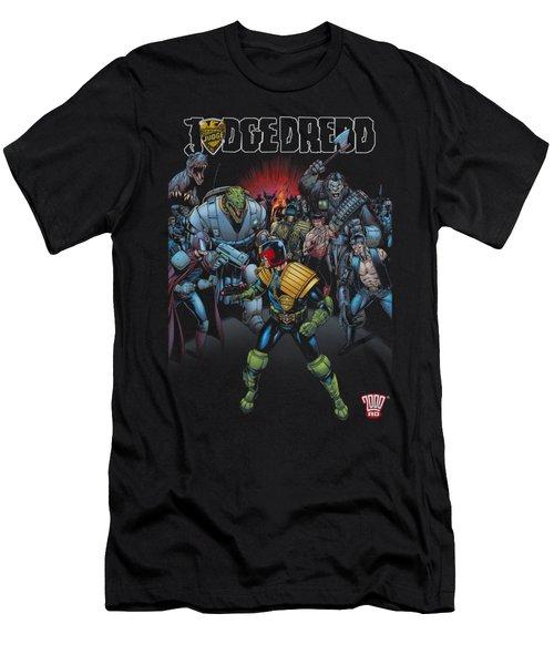 Judge Dredd - Behind You Men's T-Shirt (Athletic Fit)