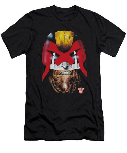 Judge Dredd - Dredd's Head Men's T-Shirt (Athletic Fit)