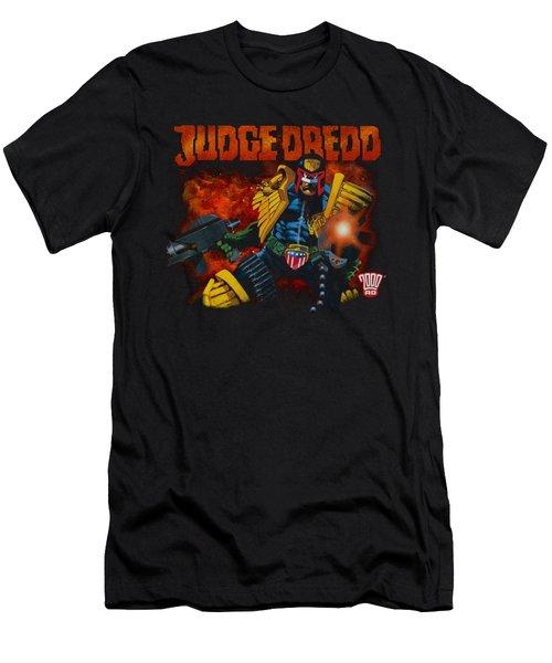 Judge Dredd - Through Fire Men's T-Shirt (Athletic Fit)