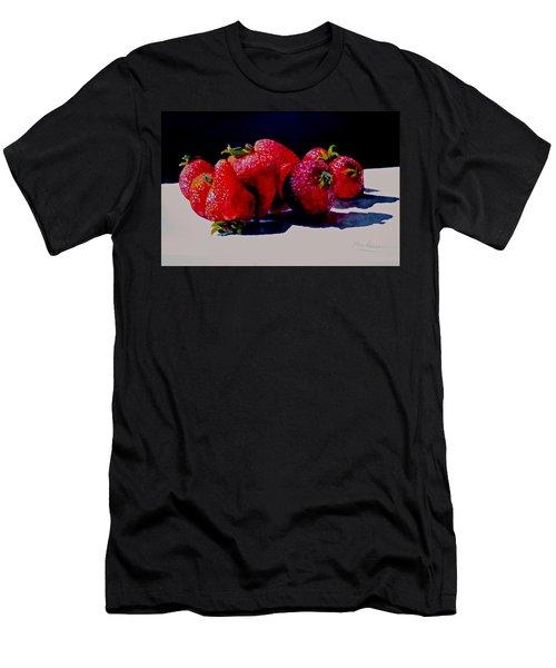 Juicy Strawberries Men's T-Shirt (Athletic Fit)