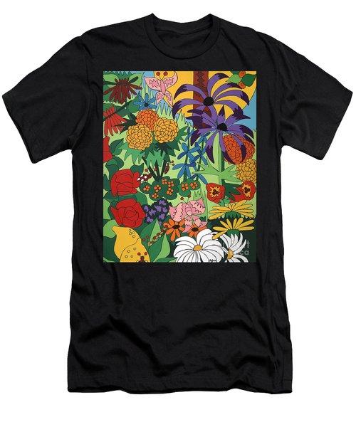 July Garden Men's T-Shirt (Slim Fit) by Rojax Art