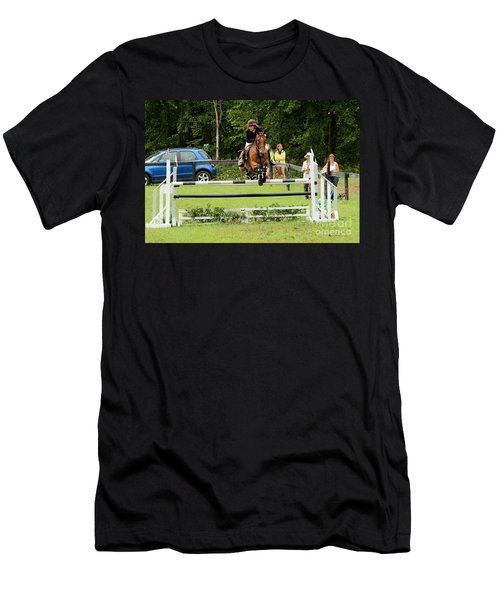 Jumping Eventer Men's T-Shirt (Athletic Fit)