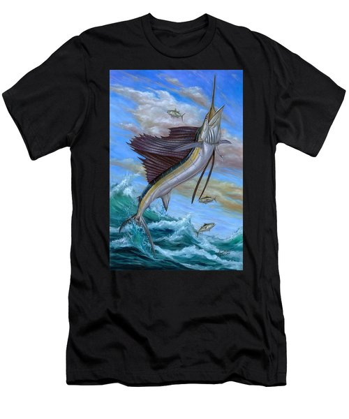 Jumping Sailfish Men's T-Shirt (Athletic Fit)