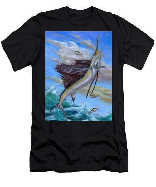 Jumping Sailfish Men's T-Shirt (Athletic Fit)