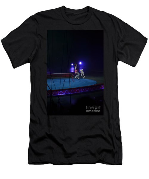 Men's T-Shirt (Slim Fit) featuring the photograph Jumprope With Fido by Robert Meanor