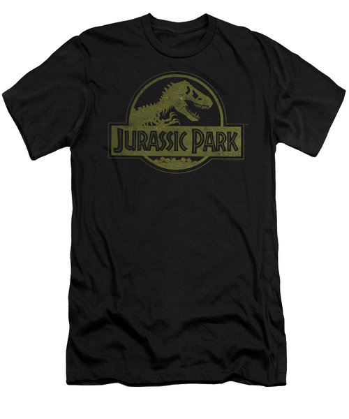 Jurassic Park - Distressed Logo Men's T-Shirt (Athletic Fit)