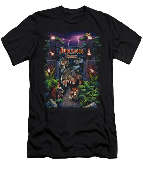 Jurassic Park - Welcome To The Park Men's T-Shirt (Slim Fit) by Brand A