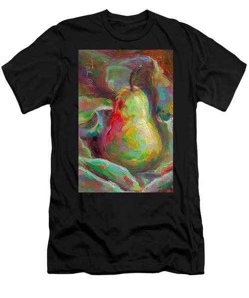 Just A Pear - Impressionist Still Life Men's T-Shirt (Athletic Fit)