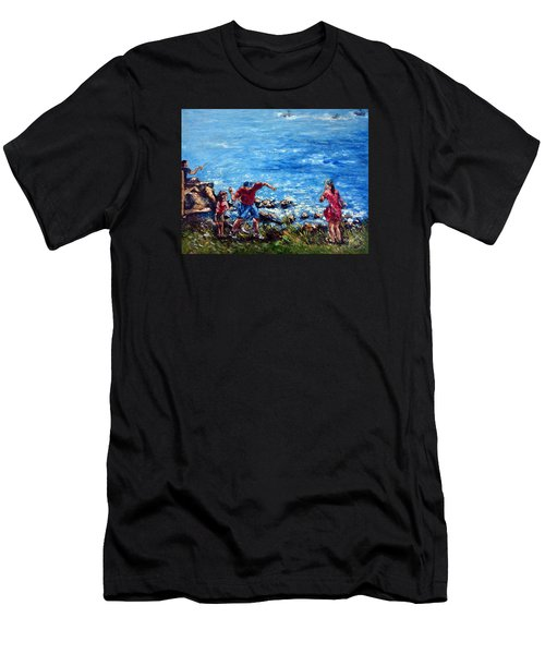 Just A Pebble In The Water Men's T-Shirt (Athletic Fit)