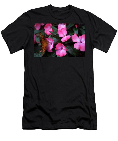 Men's T-Shirt (Slim Fit) featuring the photograph Just A Small Taste For This Butterfly by Thomas Woolworth