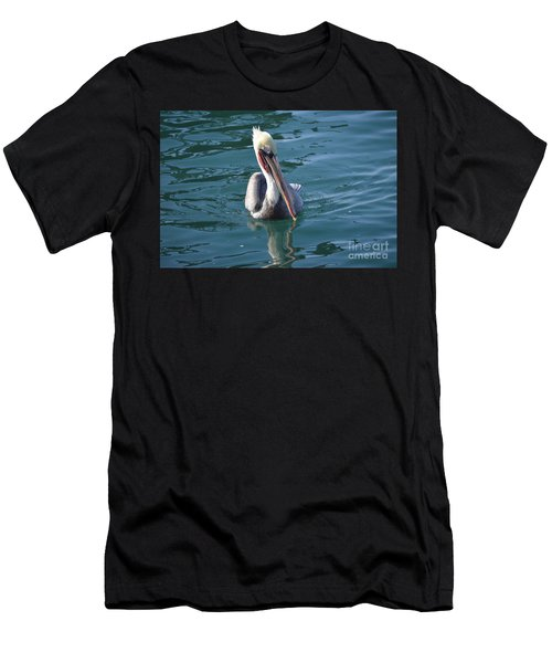 Men's T-Shirt (Athletic Fit) featuring the photograph Just Wading by Laurie Lundquist