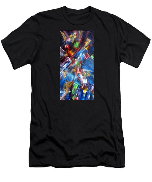 Kaleidoscope Men's T-Shirt (Slim Fit) by Katia Aho
