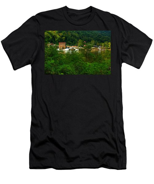 Men's T-Shirt (Slim Fit) featuring the photograph Kanawha Falls by Dave Files