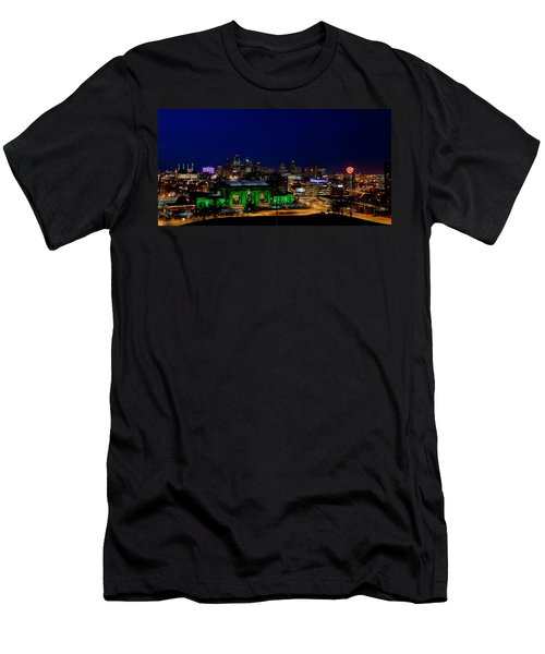 Kansas City Skyline Men's T-Shirt (Slim Fit) by Sennie Pierson