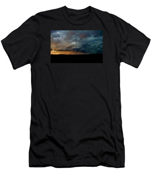 Men's T-Shirt (Slim Fit) featuring the photograph Kansas Tornado At Sunset by Ed Sweeney