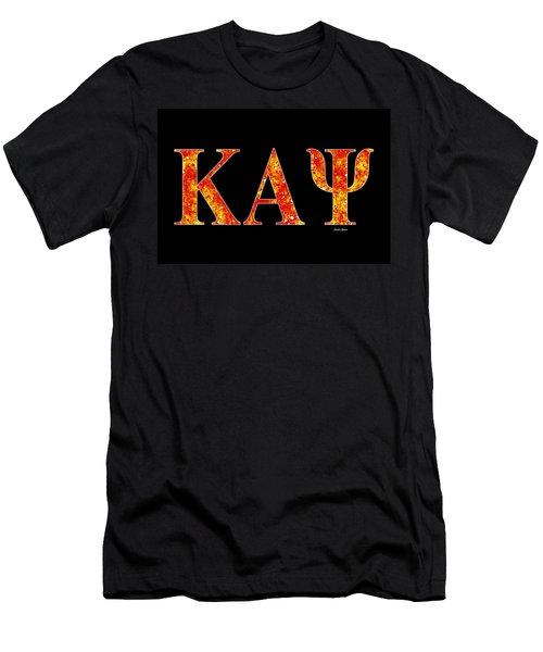 Men's T-Shirt (Slim Fit) featuring the digital art Kappa Alpha Psi - Black by Stephen Younts