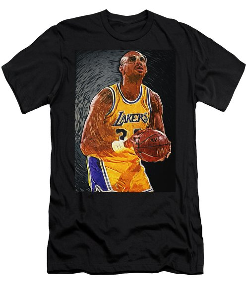 Kareem Abdul-jabbar Men's T-Shirt (Slim Fit) by Taylan Apukovska