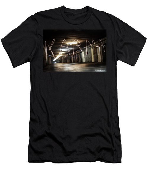 Men's T-Shirt (Athletic Fit) featuring the photograph Karma Light Painting by Stwayne Keubrick