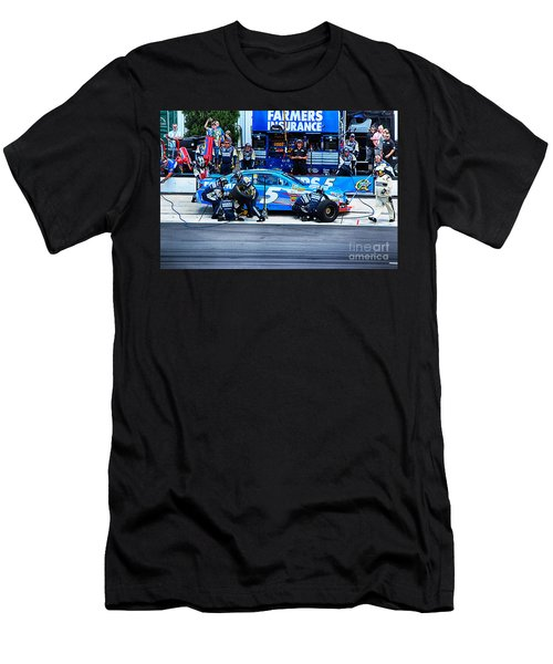 Kasey Kahne's Last Stop Before Victory Men's T-Shirt (Slim Fit) by Tony Cooper