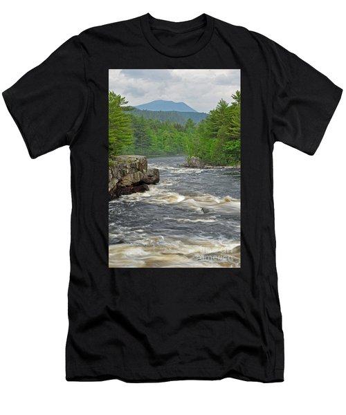 Katahdin And Penobscot River Men's T-Shirt (Athletic Fit)