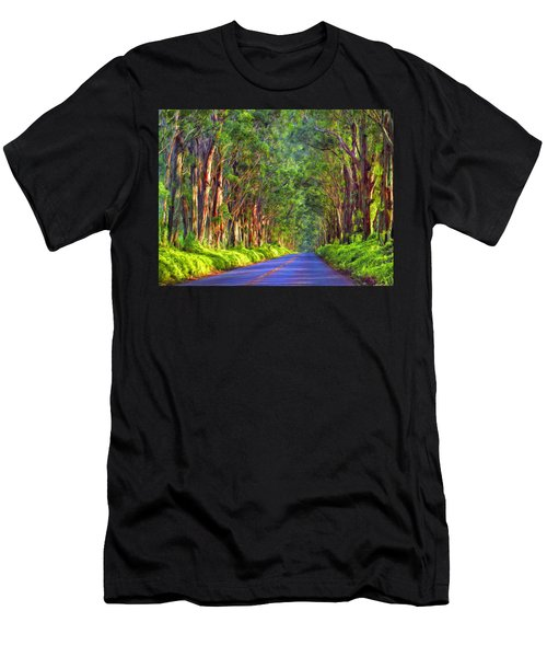 Kauai Tree Tunnel Men's T-Shirt (Athletic Fit)
