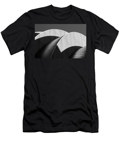 Kauffman Center Curves And Shadows Black And White Men's T-Shirt (Athletic Fit)